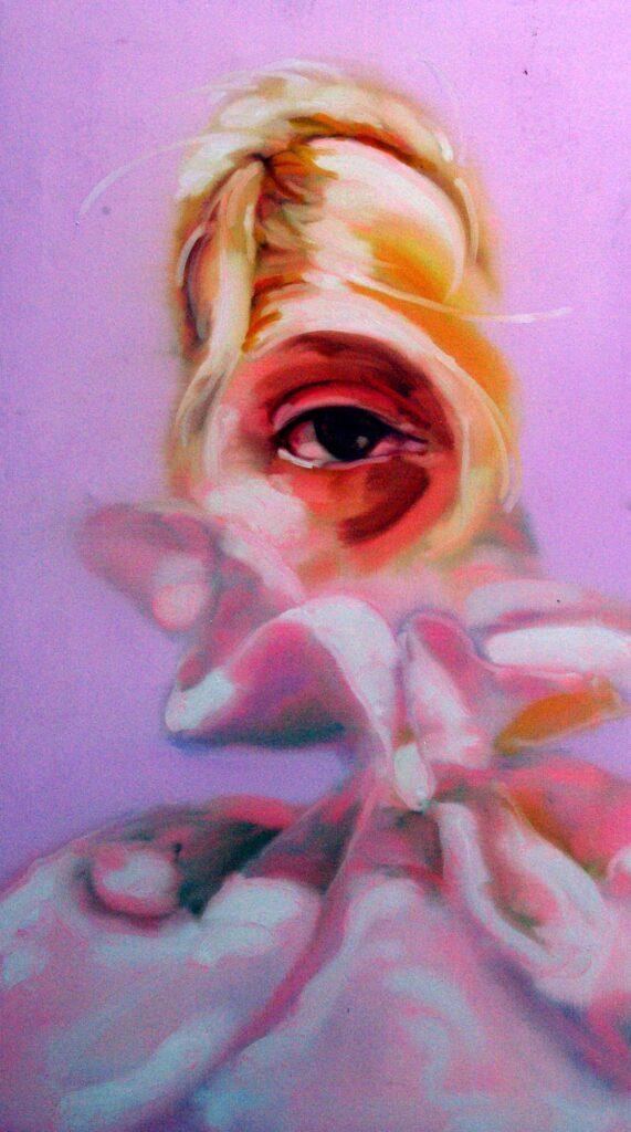 Auge Auf Rosa